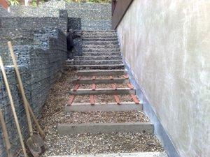 Venkovní schodiště - připravné práce