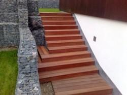 Venkovní terasové schodiště - horní část